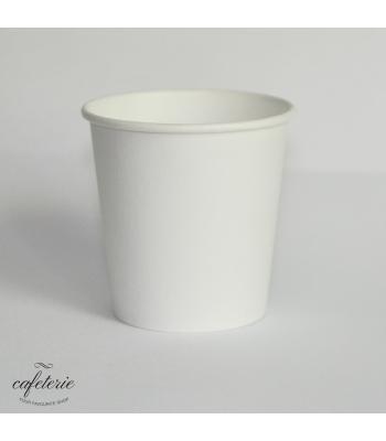 Pahar alb de carton 4 oz, 50 buc/set