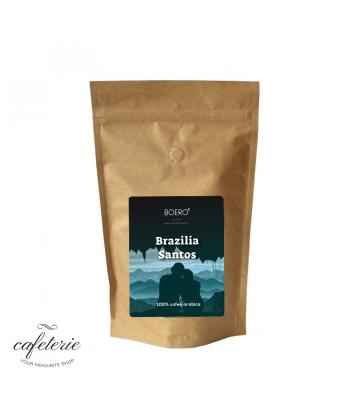 Brazilia Santos, cafea boabe proaspat prajita Boero, 350 gr