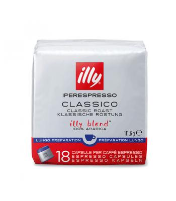 Classico Lungo, capsule Illy Iperespresso, 18 buc