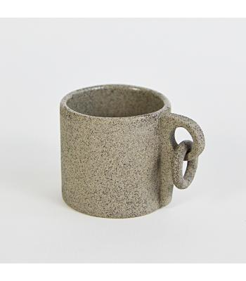 Cana ceramica handmade, cu piton de alpinism, 140 ml
