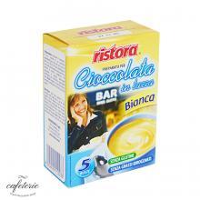 Ciocolata calda alba Ristora, cutie 5 plicuri