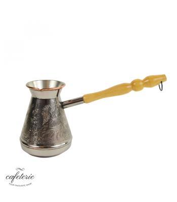 Ibric pentru cafea din Cupru Firebird, capacitate 580 ml, Double Base, Silver-Lined, Made in Russia