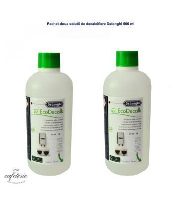 Pachet, doua solutii de decalcifiat Delonghi 500 ml